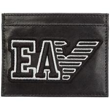 Emporio Armani credit card holder men YEM320YTC2E81072 Black leather wallet