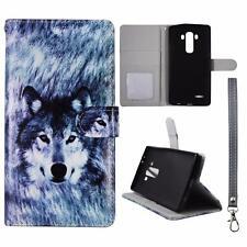 For LG G4 Us991 Sk Wallet Snow Wolf Cover Uni Case Split