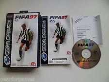 SEGA SATURN PAL GAME FIFA 97 TESTED IN CONSOLE.