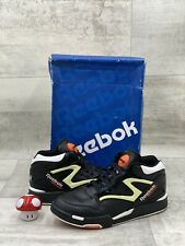Reebok Court Victory Pump Men's Size 11 Black Orange White Dee Brown