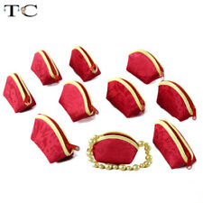 10pcs Chinese Style Jewelry Zipper Pouch Jewelry Lipstick Small Bag Coin Purse
