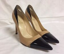 Ivanka Trump High Heels Black Brown Patent leather Stilettos pumps 6.5 pointed
