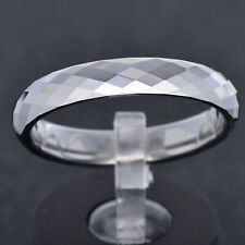 4mm Tungsten Carbide Diamond Faceted Shiny Band Men's Jewelry Wedding Ring TR