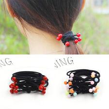 10pcs Elastic Hair Ring Beads Hair Rubber bands Rope Headbands Hair Accessories