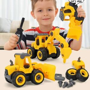 Disassembly Engineering Combination Toy Gifts Excavator Bulldozer Children's DIY