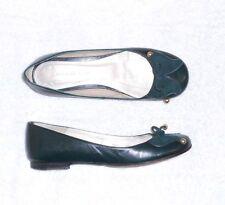 PAUL & JOE SISTER ballerines cuir vert foncé P 38 TBE