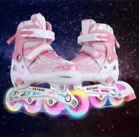 Inline Skates with Light Up Wheels Adjustable Roller Skates Beginner Roller Fun-