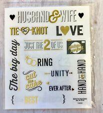 2 Sheets Wedding Gold Foil  Planner Stickers Papecraft Envelope Seals Shower