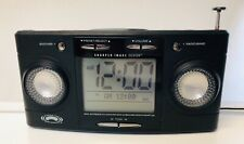 Sharper Image Si564 Black Big Screen Alarm Clock Radio Sound Soother 20 Tested