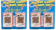 Buy 1 get 1 FREE 2x pvc coated deck and dice set fun game in