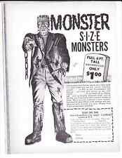 Vintage 6 foot Frankenstein ad that appeared through the 1960's and 1970's