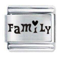 FAMILY HEART - 9mm Daisy Charms by JSC Fits Classic Size Italian Charm Bracelet