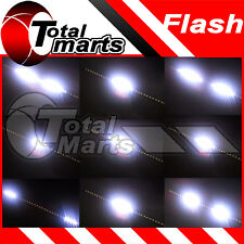 "12"" Car Truck Knight Rider LED Scanner Decoration Strobe Flash Strip Light White"