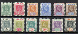 Gambia 1904-06 set to 2s MH