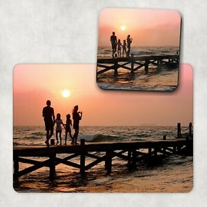 Personalised Photo Placemat & Coaster Set, Table Mats Gifts Christmas Wooden Mdf