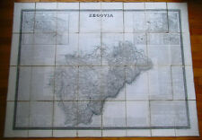 Antique Map Of Segovia Spain And Provinces - 1849