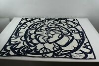 Richard Allan Blue/White Silk Square Scarf Size approx. 30 x 30 Inches