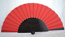 XXL Black/Red flamenco Pericón dancefan guajira eventail fächer ventagli abanico