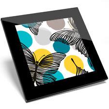 1 x Pretty Butterflies Art Glass Coaster - Kitchen Student Quality Gift #8412