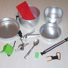Backpacking Cooking Set - Ti Gas Stove, Ti  Spork, Ali Pot Set + 3 FREE Gifts
