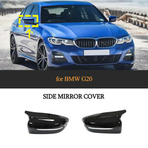 For BMW G20 330i 340i 2019UP RHD Rear View Mirror Cover Cap Glossy Black Replace