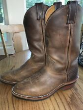 Mens Chippewa Leather Cowboy Work Boots 7.5 D EUC Womens 9 Wide
