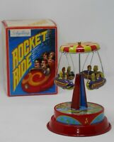 Schylling Collector Series Wind Up Spinning Carousel Rocket Ride Tin Toy w/Box