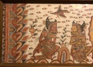 Indonesian Batik Traditional Kamasan Painting of Rama Epic