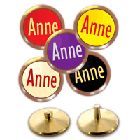 Best Impressions Personalised Golf Ball Markers Brass 5 Pack Different Colours