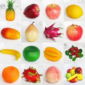 Mixed Artificial Apples Plastic Fake Fruits Food Kitchen Home Xmas Party Decor