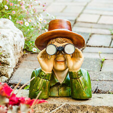 Large Nosey Neighbour Novelty Garden Gnome Ornament Outdoor Feature