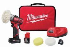 New Milwaukee 2438-22X M12 Variable Speed Polisher /Sander Kit w/2 Batteries 12V
