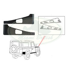 LAND ROVER FRONT FENDER TREADPLATE KIT BLACK DEFENDER LR005242 OEM