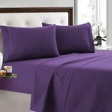 2200 Count 4 Piece Bed Sheet Set Deep Pocket Sheets Softer Than Egyptian Cotton