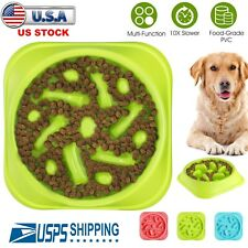 Slow Feeder Dog Bowl Anti Bloat Non Skid Pet Cat Puppy Food Dish Water Feeding
