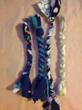 Homemade Dog Fleece Tug And Chew Toy - Set of 4 Homemade Toys 5B