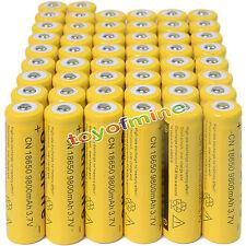 50PCS 3.7V 18650 9800mAh Li-ion Rechargeable Battery For Flashlight Torch USA