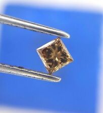 Chocolate Brown Princess Square Natural Diamond VS1 0.10TCW for Father Day Gift