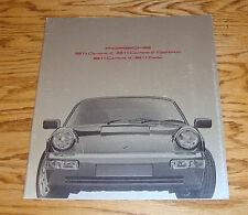 Original 1991 Porsche 911 Deluxe Sales Brochure 91 Carrera 2 4 Tiptronic Turbo