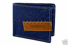 Wallet for Man in Jeans - Bifold - Credit Card Holder - Blue