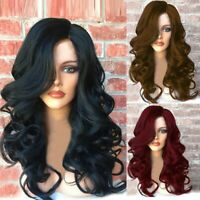 3 Colors Long Curly Wavy Hair Sexy Women Full Wig Natural Wigs Heat Resistant