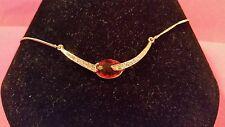 Avon PRETTY DRAMA necklace Topaz