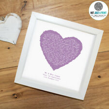 More details for eric clapton 'wonderful tonight' personalised framed lyrics print birthday gift