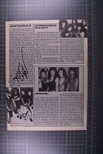 More details for anthrax scott ian signed magazine page