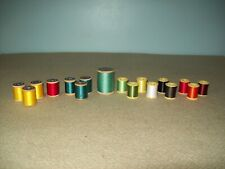 Lot of 17 spools of miscellaneous thread for fishing rod repair Herter