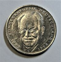 2,- DM 1994 D CuNi - Willy Brandt - vorzüglich / xf  mit Kapsel