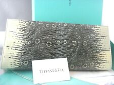 TIFFANY&CO LIZARD CLUTCH EVENING BAG BROWN & BEIGE BRAND NEW
