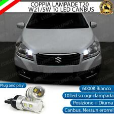 COPPIA LAMPADE T20 10 LED W21/5W SUZUKI SX4 S-CROSS 6000K CANBUS NO ERROR