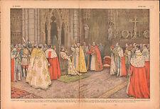 Coronation George VI King of the United Kingdom Canterbury UK 1937 ILLUSTRATION