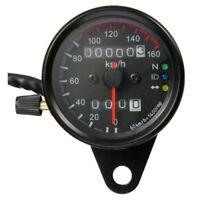 1X(Moto double compteur kilometrique Compteur de vitesse Gauge kmh retro-ecla GH
